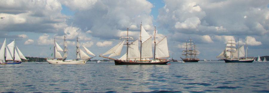 Histirische Segelboote in der Flensburger Förde
